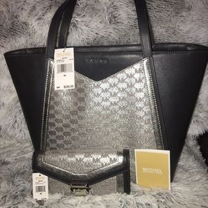 Michael Kors large Whitney tote and wallet set